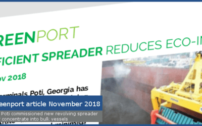 Industry publication reports on APM Terminals rotating spreader