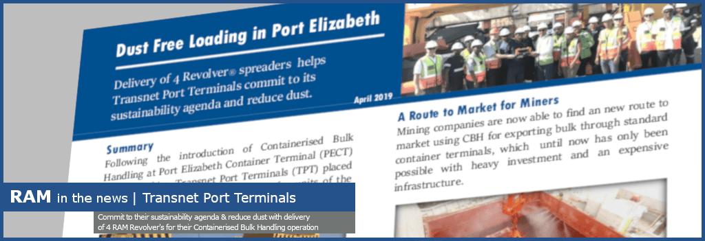 dust free loading in the port of Elizabeth