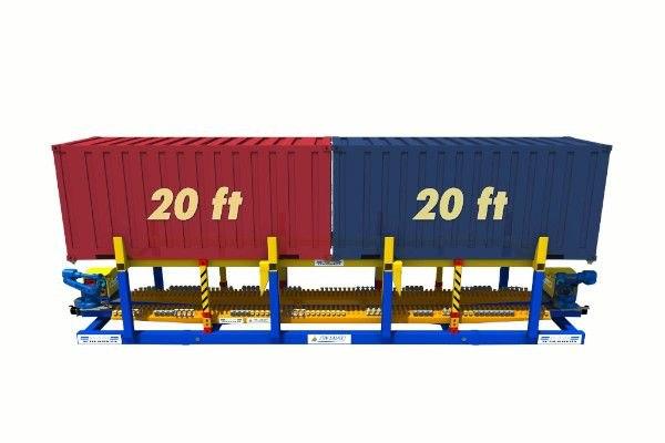 2 x 20ft containers on twist lock handling machine - RAM Spreaders