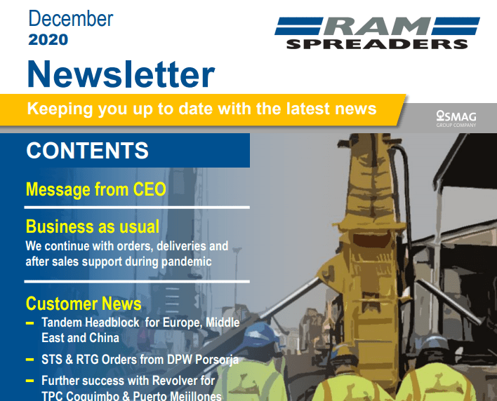 The latest spreader news