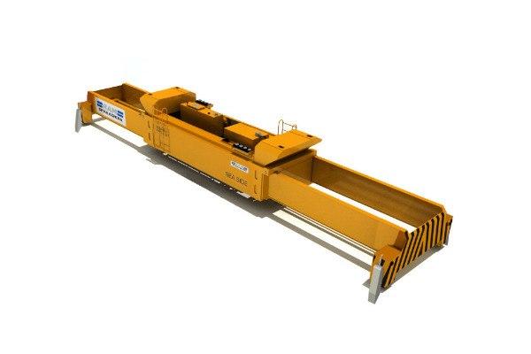 Hydraulic single lift spreader for yard cranes - RAM Spreaders