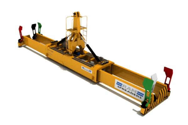 2700 single lift hydraulic MHC spreader - RAM Spreaders