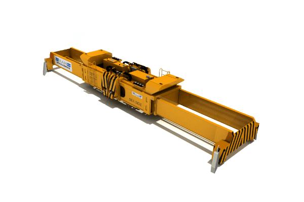 Hydraulic twin lift spreader for yard cranes - RAM Spreaders