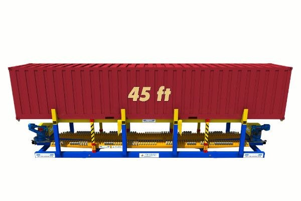 45ft container on twist lock handling machine - RAM Spreaders