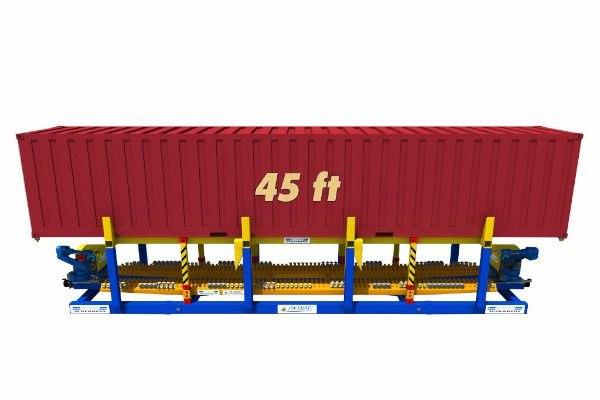 45ft container on twist lock handling machine - RAM Spreaders