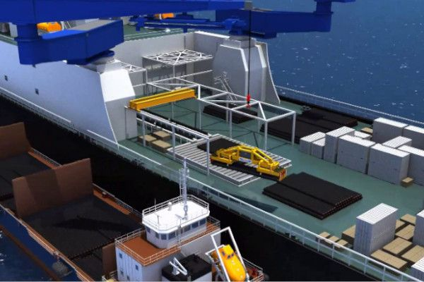 Pipe loading offshore operations - RAM Spreaders