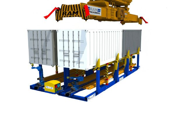 RAM2900 lifting container from Pinsmart - RAM Spreaders