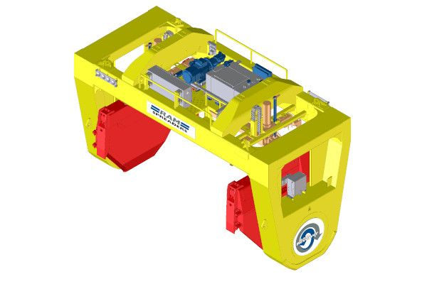 Revolver forbulk handling on a bridge crane - RAM Spreaders
