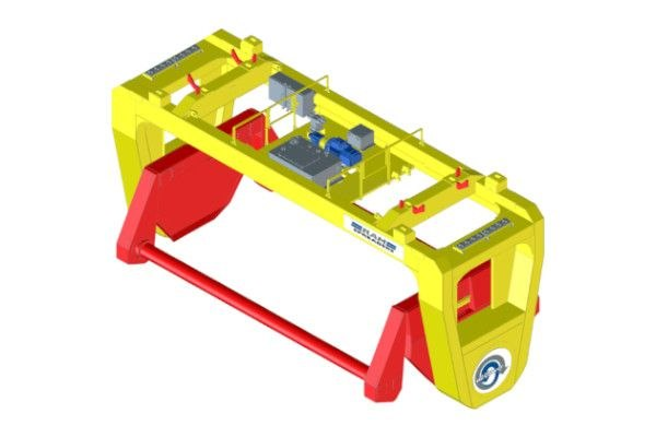 Revolver for STS containerised bulk handling - RAM Spreaders