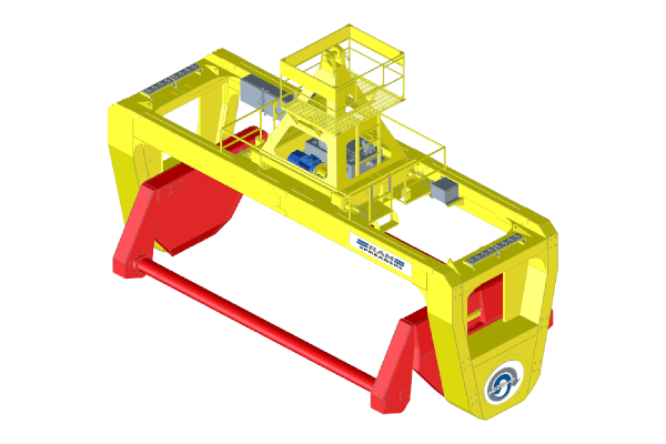MHC Revolver for containerized bulk handling - RAM Spreaders