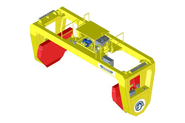 Revolver for ship crane bulk handling - RAM Spreaders