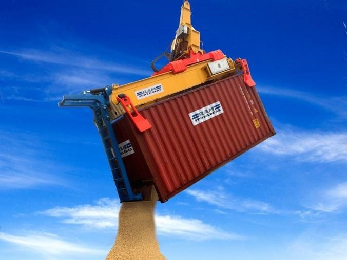 RAM Revolver - containerised bulk system unloading copper concentrate