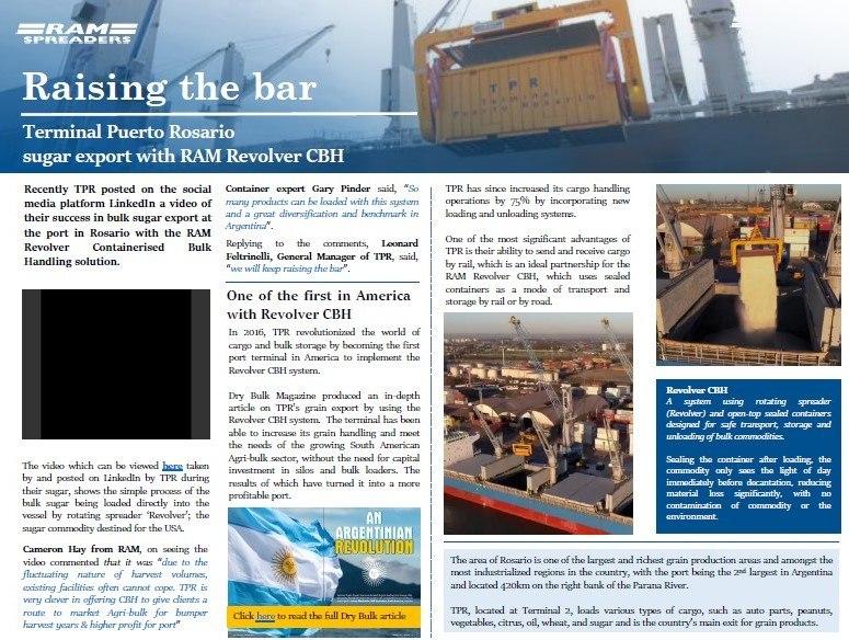 Article on Puerto Rosario unloading bulk