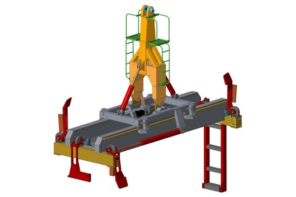 Tilting spreader for bulk handling